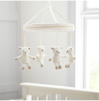 Pottery Barn Kids Harper Lamb Plush Mobile, White Wash