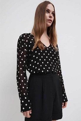 Witchery Spot Georgette Blouse