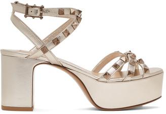 Valentino Gold Garavani Rockstud Platform Sandals