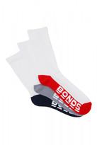 Bonds Mens Logo Crew Sport Socks 3 Pack