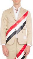Thom Browne Tricolor-Striped Three-Button Blazer