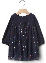 Gap Shiny dots tulle dress