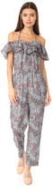 Rebecca Taylor Sleeveless Wildflowers Jumpsuit