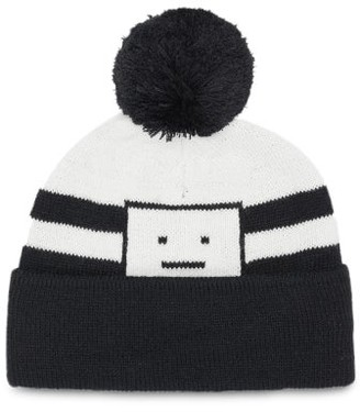 Acne Studios Kerris Striped Knitted Beanie - Navy
