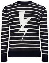 Neil Barrett Lightning Bolt Knit Jumper