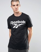 Reebok Vector Large Logo T-Shirt In Black AZ9526