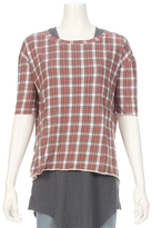 TEE LAB By FRANK & EILEEN Plaid Core Elbow Tee