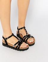 Park Lane T Bar Flatform Sandals