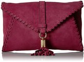 Milly Astor Suede Whipstitch Clutch