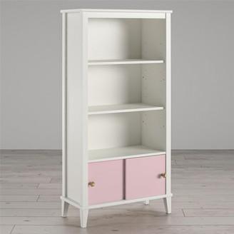 Little Seeds Monarch Hill Poppy Kids White Bookcase, Pink Doors