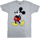 Disney Classic Mickey Mouse Facing Left T-shirt (Extra Large, Heather Grey)