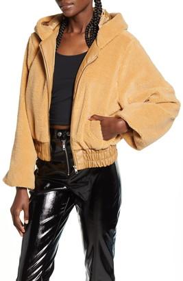 I.AM.GIA 717 Hooded Teddy Fleece Jacket