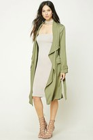Forever 21 FOREVER 21+ Draped Self-Tie Trench Coat