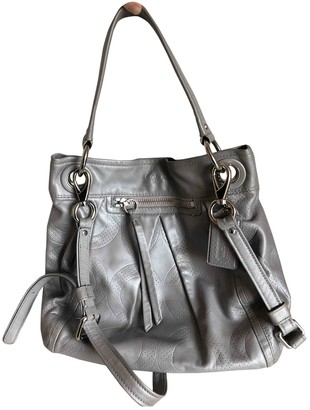 Coach Canvas Courier Crossbody Grey Leather Handbags