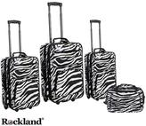 Rockland Deluxe Zebra 4-piece Luggage Set