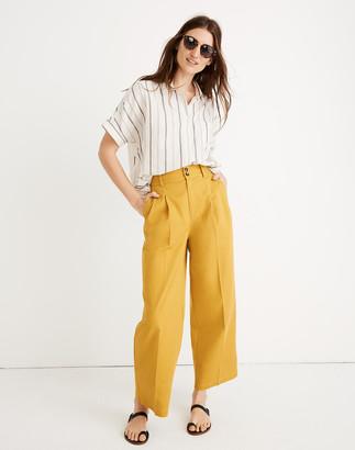 Madewell Petite Pleated Wide-Leg Pants
