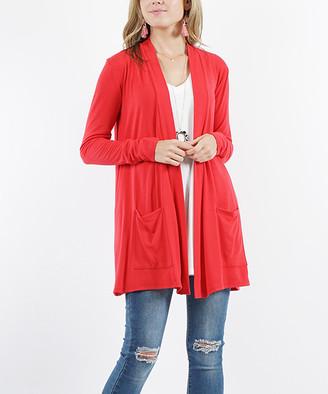 Lydiane Women's Open Cardigans RUBY - Ruby Long-Sleeve Slouchy-Pocket Open Cardigan - Women