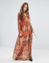 Vero Moda Reba Fabs Boho Print Maxi Dress