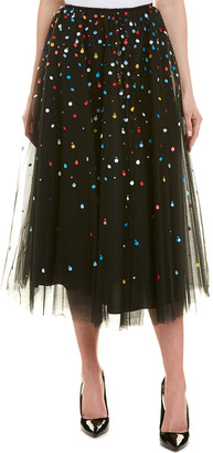 Carolina Herrera Silk-Lined A-Line Skirt