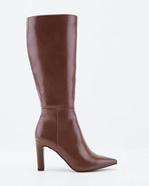 Le Château Faux Leather Knee-High Pointy Toe Boot