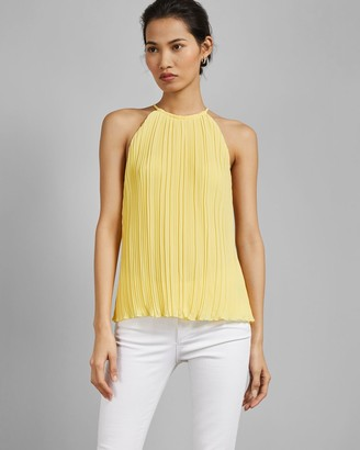 Ted Baker Pleated Racer Neck Top