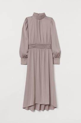 H&M Dress with Tie Belt - Brown
