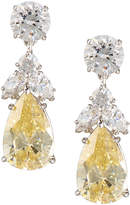 FANTASIA Pear Canary Crystal Drop Earrings