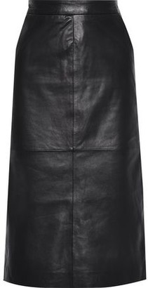 Muu Baa Muubaa Leather Midi Skirt