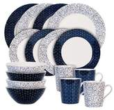 Maxwell & Williams Maxwell & WilliamsTM Print Indigo Free/Diamond 16-Piece Dinnerware Set in Indigo/White