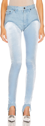 Y/Project Stirrup Short Pant in Ice Blue | FWRD