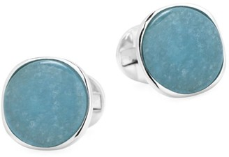 Cufflinks Inc. Ox & Bull Trading Co. Sterling Silver & Aquamarine Jade Cufflinks