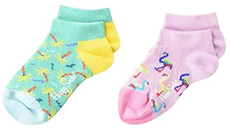Happy Socks Confetti Palm Low Socks 2-Pack (Toddler) (Light/Pastel Green) Crew Cut Socks Shoes
