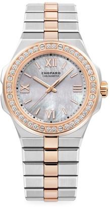 Chopard Alpine Eagle 18K Rose Gold, Stainless Steel & Diamond Bracelet Watch