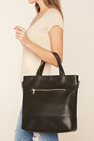 Forever 21 FOREVER 21+ Faux Leather Tote