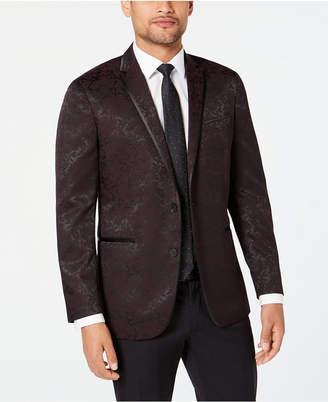 Kenneth Cole Reaction Men Slim-Fit Tonal Floral Evening Jacket