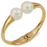 Trina Turk Faux Pearl-Accented Hinged Cuff Bracelet