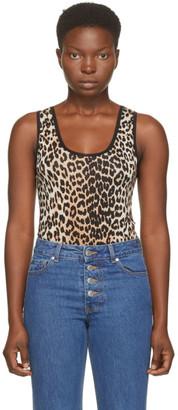 Ganni Black and Brown Sleeveless Bodysuit