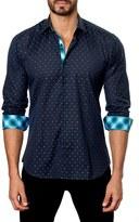 Jared Lang Men's Trim Fit Dobby Sport Shirt