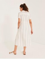 Thumbnail for your product : Fat Face Carey Stripe Shirt Midi Dress - Ivory