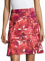 ABS by Allen Schwartz Floral Flounce Skirt