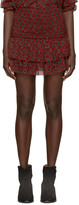 Etoile Isabel Marant Burgundy Brinley Miniskirt