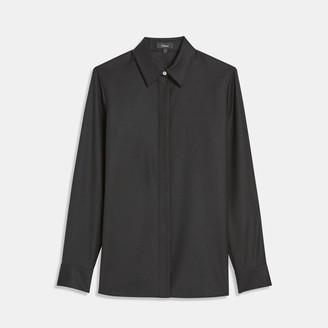 Theory Sleek Flannel Straight Shirt