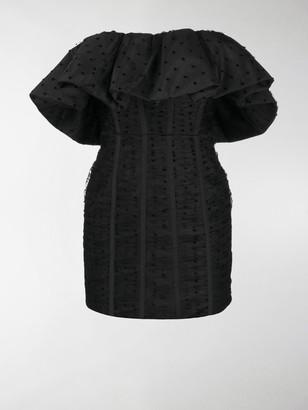 Self-Portrait Polka Dot-Print Mini Dress