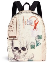 Alexander McQueen 'Letters from India' skull print backpack