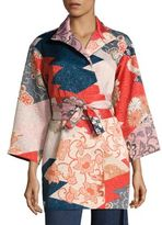 Josie Natori Kimono Patchwork Topper