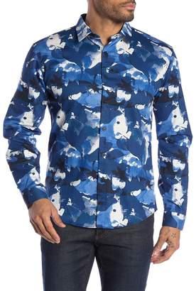 Lindbergh Patterned Long Sleeve Regular Fit Shirt