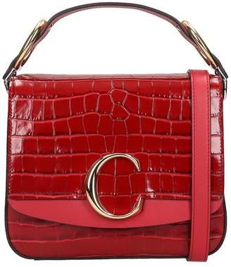 Chloé C Shoulder Bag In Red Leather