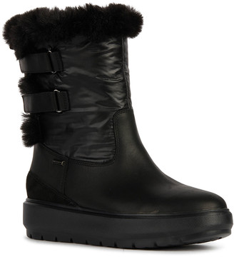 Geox Kaula 11 Grip-Strap Boots w/ Faux-Fur Trim