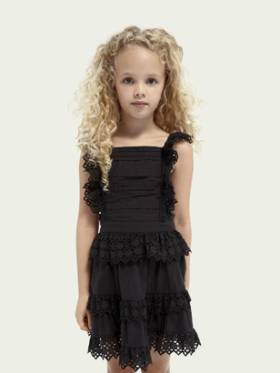 Scotch & Soda Broderie anglaise organic cotton dress | Girls