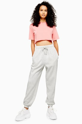 Topshop Womens Tall Classic Grey 90'S Oversized Joggers - Pale Grey